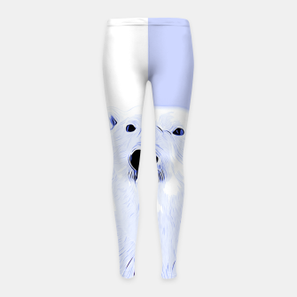 Miniature de image de polar ice bear vector art cool blue Girl's leggings, Live Heroes