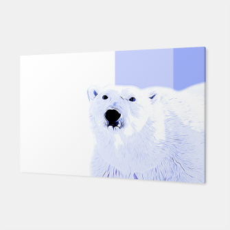 Miniature de image de polar ice bear vector art cool blue Canvas, Live Heroes