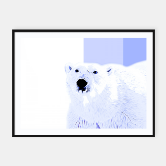 Miniature de image de polar ice bear vector art cool blue Framed poster, Live Heroes