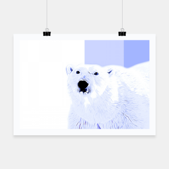 Miniature de image de polar ice bear vector art cool blue Poster, Live Heroes