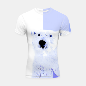 Miniature de image de polar ice bear vector art cool blue Shortsleeve rashguard, Live Heroes