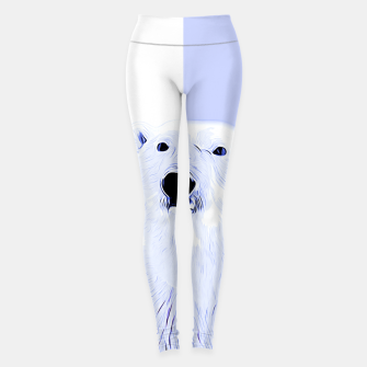 Miniature de image de polar ice bear vector art cool blue Leggings, Live Heroes
