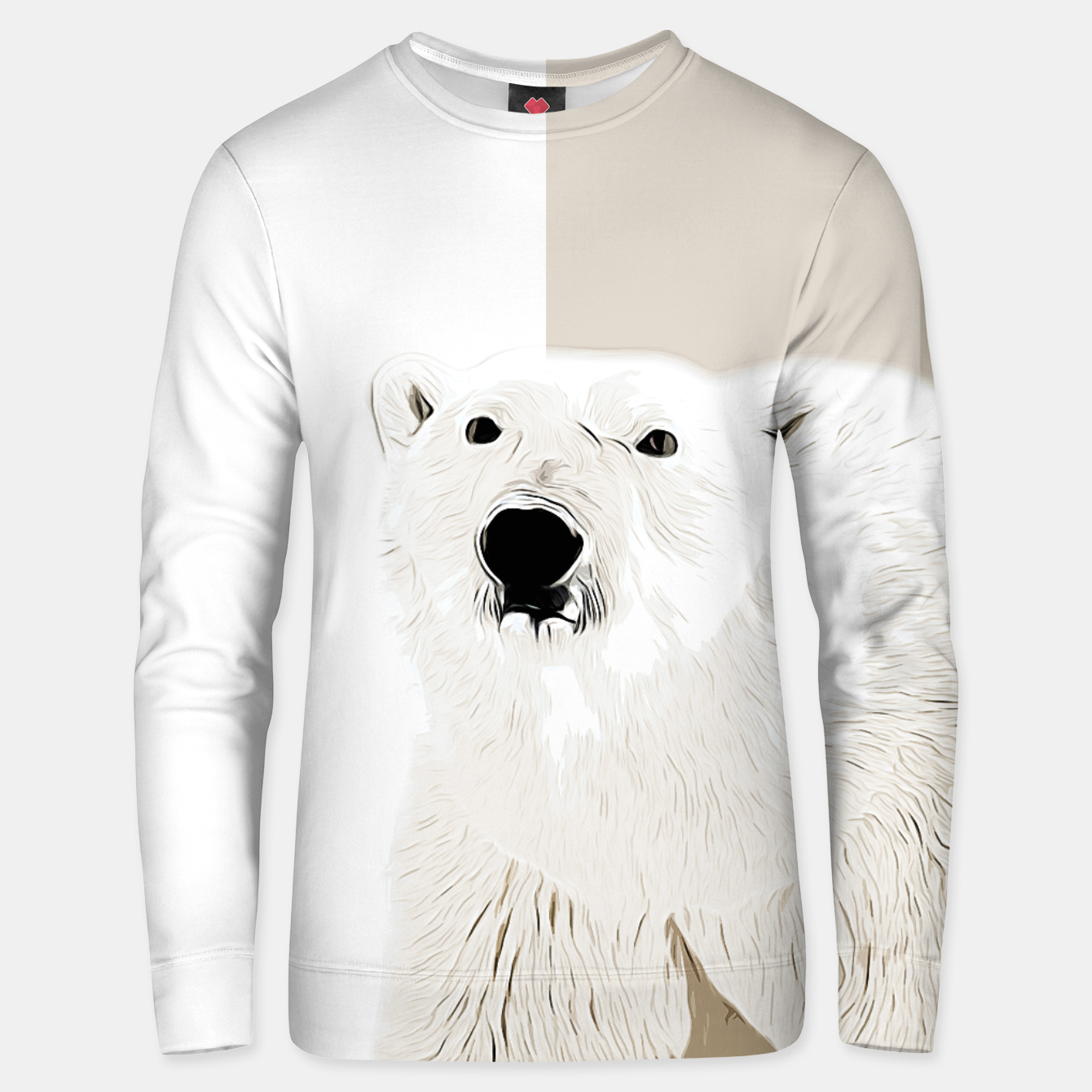 Image of polar ice bear vector art  Unisex sweater - Live Heroes
