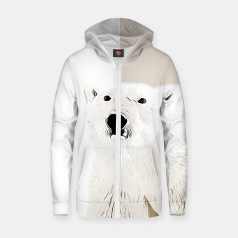 Miniature de image de polar ice bear vector art  Zip up hoodie, Live Heroes