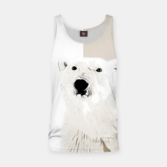 Miniature de image de polar ice bear vector art  Tank Top, Live Heroes