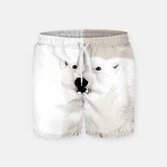 Miniature de image de polar ice bear vector art  Swim Shorts, Live Heroes