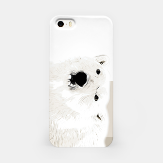 Miniature de image de polar ice bear vector art  iPhone Case, Live Heroes