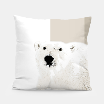 Miniature de image de polar ice bear vector art  Pillow, Live Heroes