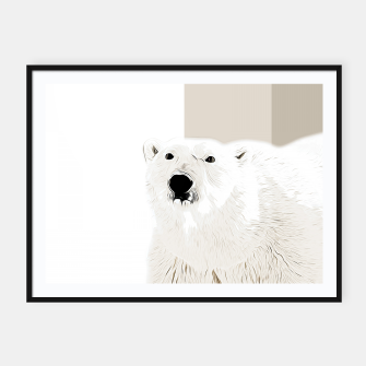 Miniature de image de polar ice bear vector art  Framed poster, Live Heroes