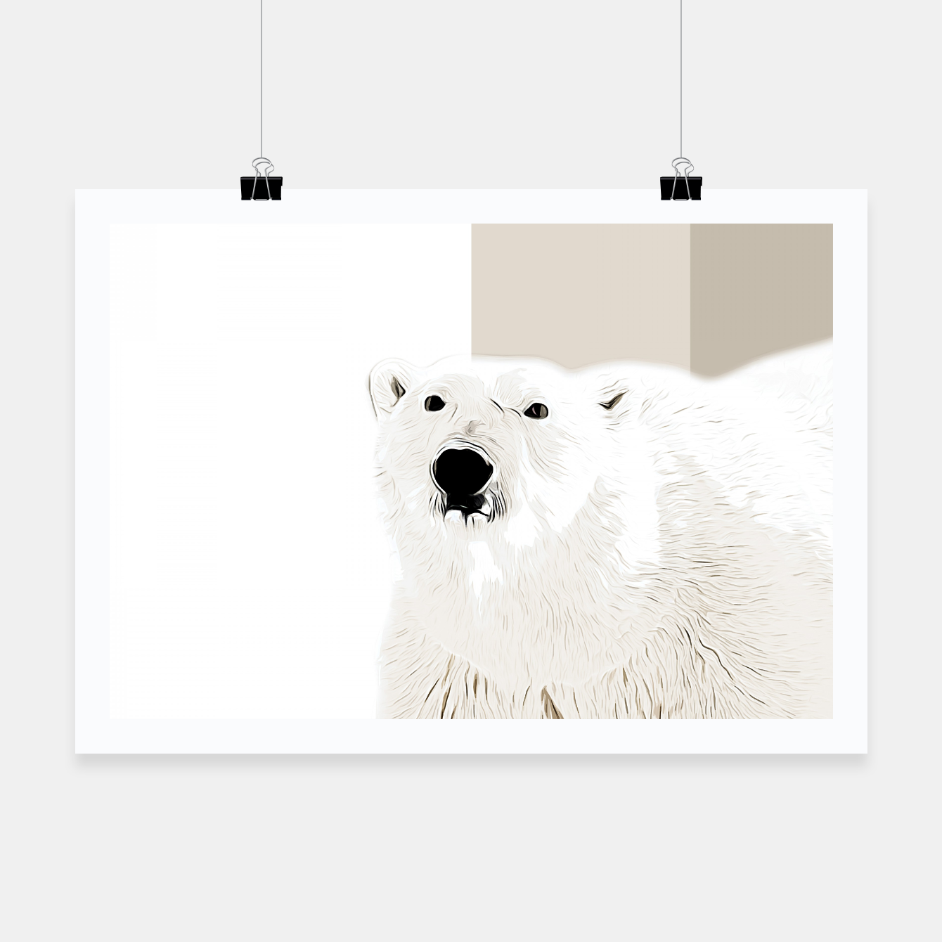 Image of polar ice bear vector art  Poster - Live Heroes