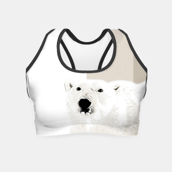 Miniature de image de polar ice bear vector art  Crop Top, Live Heroes