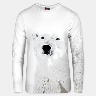 Miniature de image de polar ice bear vector art white Unisex sweater, Live Heroes