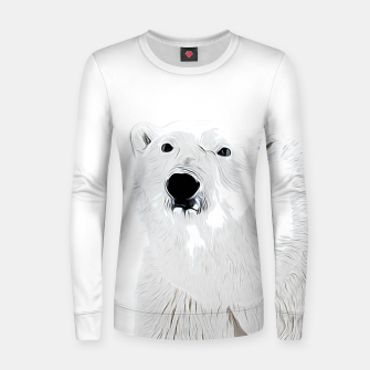 Miniature de image de polar ice bear vector art white Women sweater, Live Heroes