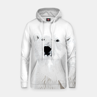 Miniature de image de polar ice bear vector art white Hoodie, Live Heroes