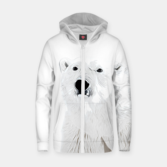 Miniature de image de polar ice bear vector art white Zip up hoodie, Live Heroes