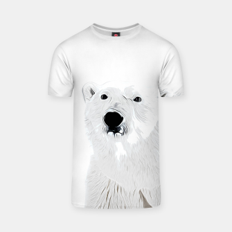 Miniature de image de polar ice bear vector art white T-shirt, Live Heroes