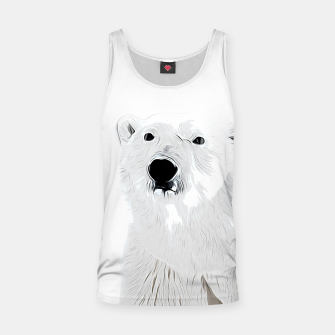 Miniature de image de polar ice bear vector art white Tank Top, Live Heroes