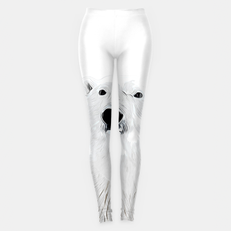 Miniature de image de polar ice bear vector art white Leggings, Live Heroes