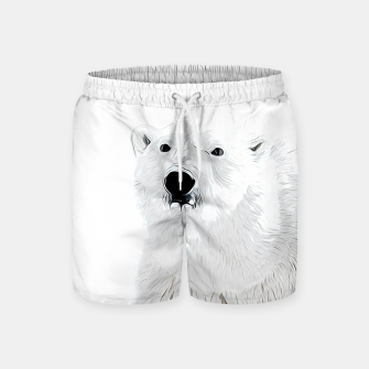 Miniature de image de polar ice bear vector art white Swim Shorts, Live Heroes