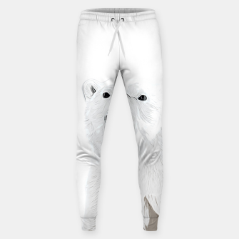 Miniature de image de polar ice bear vector art white Sweatpants, Live Heroes