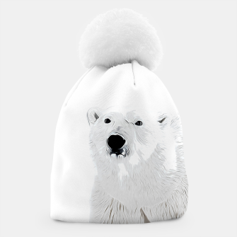 Miniature de image de polar ice bear vector art white Beanie, Live Heroes