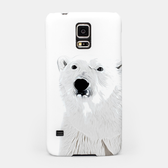 Miniature de image de polar ice bear vector art white Samsung Case, Live Heroes