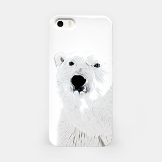 Miniature de image de polar ice bear vector art white iPhone Case, Live Heroes