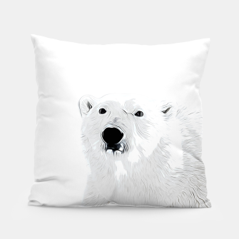 Miniature de image de polar ice bear vector art white Pillow, Live Heroes