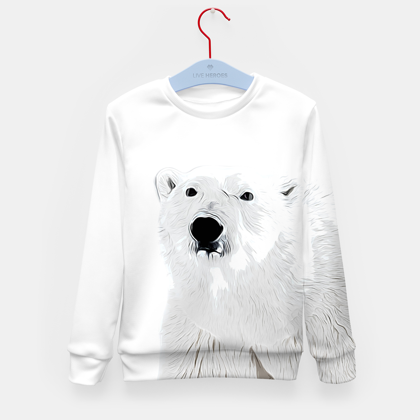 Image of polar ice bear vector art white Kid's sweater - Live Heroes