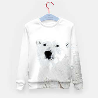 Miniature de image de polar ice bear vector art white Kid's sweater, Live Heroes