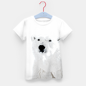Miniature de image de polar ice bear vector art white Kid's t-shirt, Live Heroes