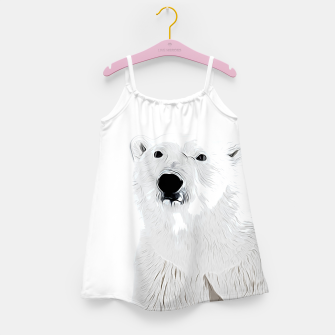 Miniature de image de polar ice bear vector art white Girl's dress, Live Heroes