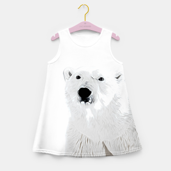 Miniature de image de polar ice bear vector art white Girl's summer dress, Live Heroes