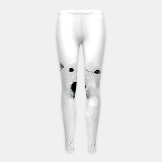 Miniature de image de polar ice bear vector art white Girl's leggings, Live Heroes