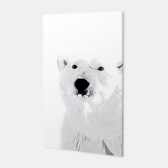 Miniature de image de polar ice bear vector art white Canvas, Live Heroes