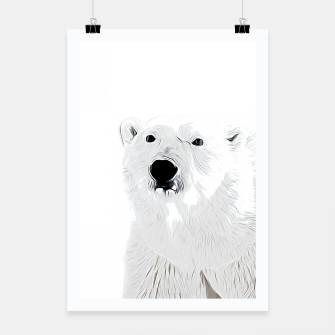 Miniature de image de polar ice bear vector art white Poster, Live Heroes