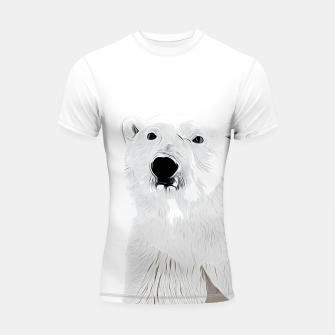 Miniature de image de polar ice bear vector art white Shortsleeve rashguard, Live Heroes