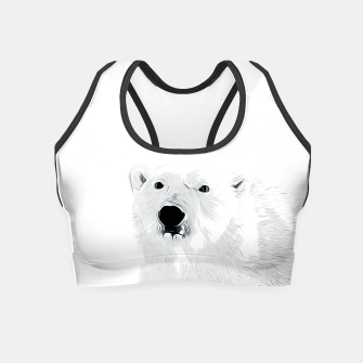 Miniature de image de polar ice bear vector art white Crop Top, Live Heroes