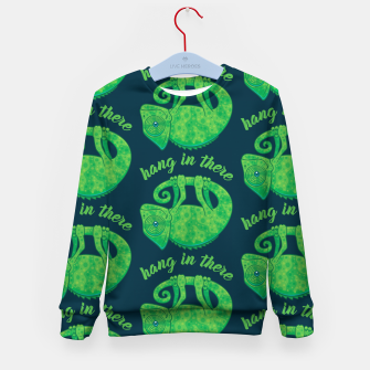 Miniatur Hang In There Magical Chameleon Kid's sweater, Live Heroes