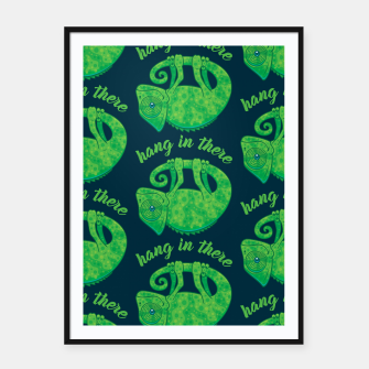 Thumbnail image of Hang In There Magical Chameleon Framed poster, Live Heroes