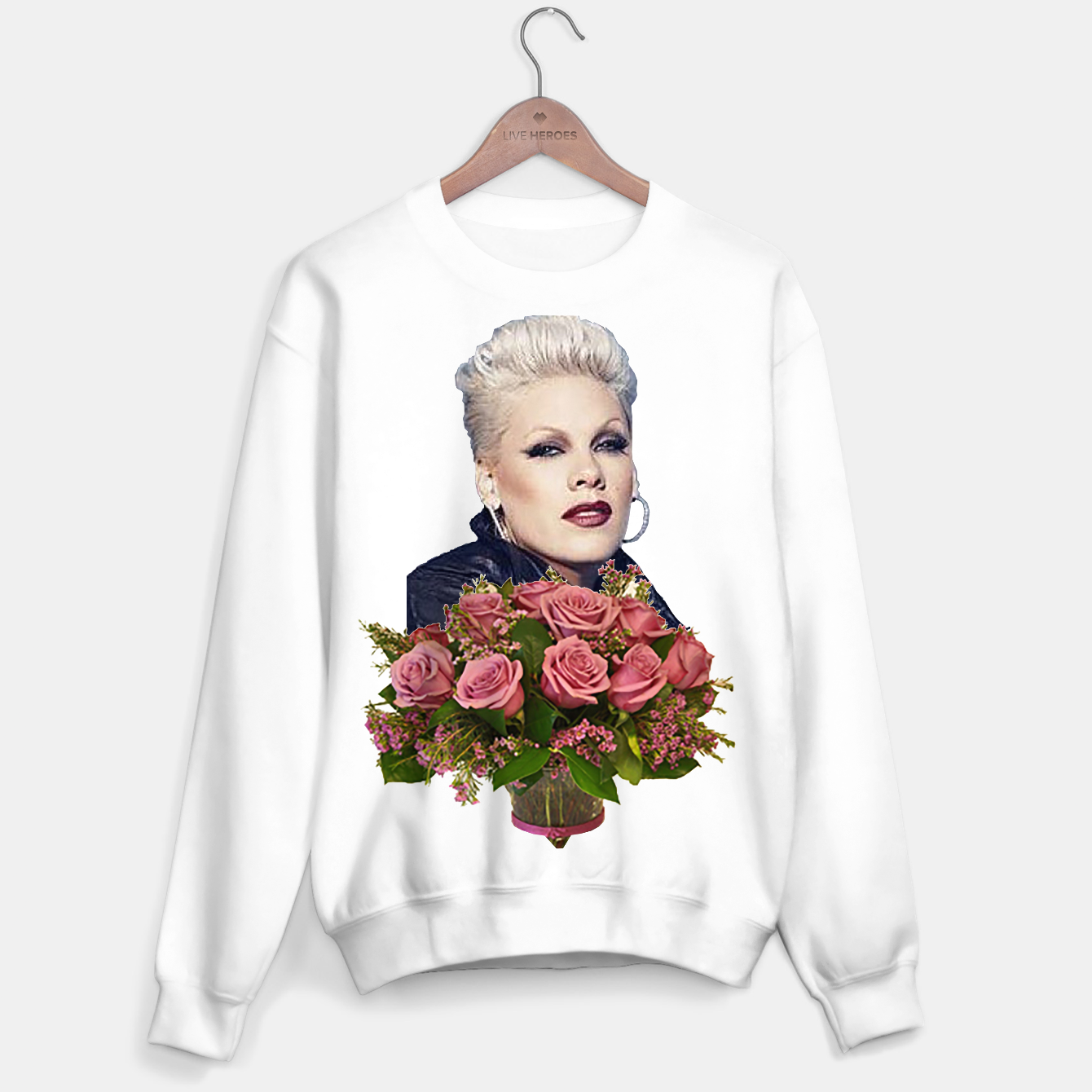 Image of Pink Flowers Sweater regular - Live Heroes