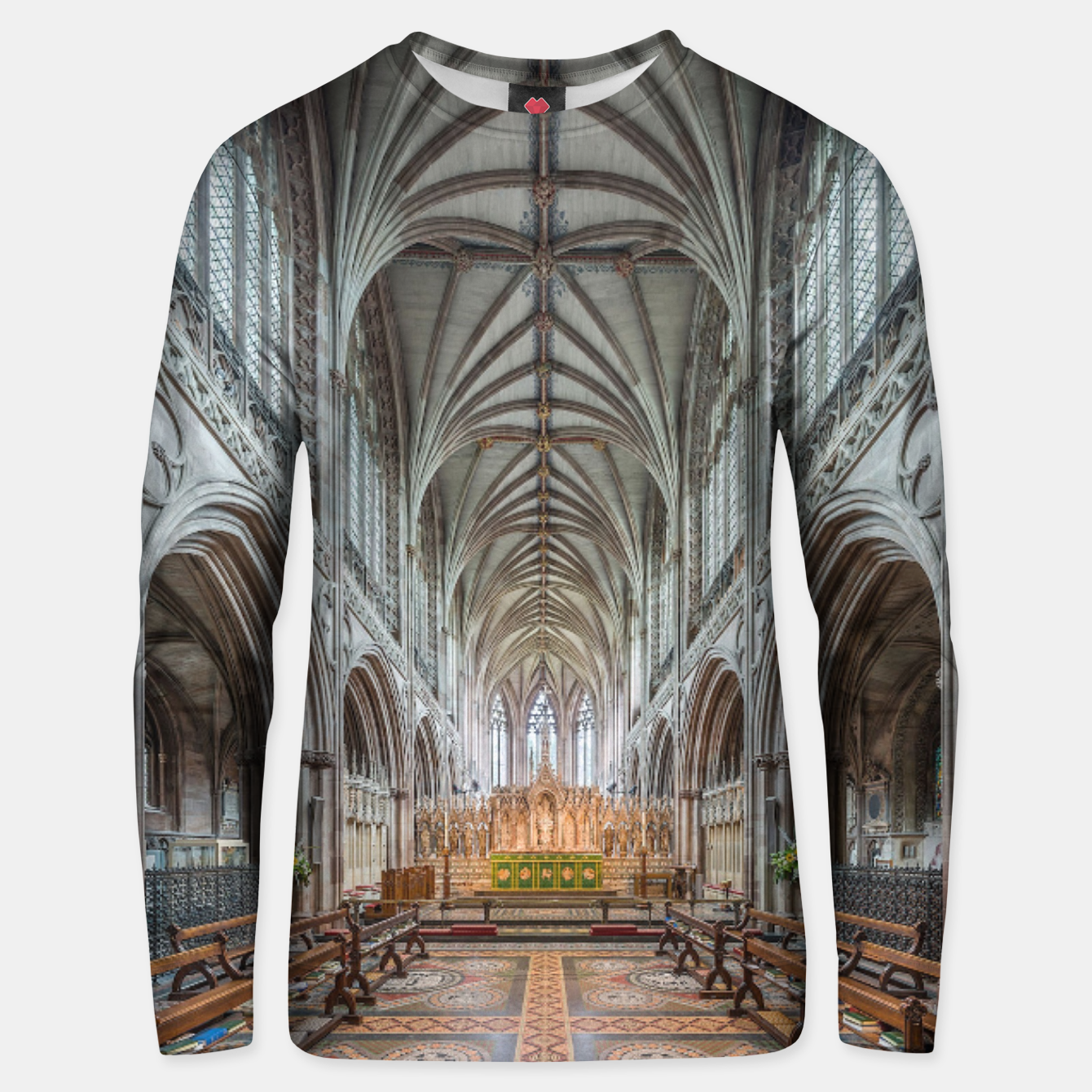 Image of SPIRITUAL † WARRIOR Cathedral Unisex sweater - Live Heroes
