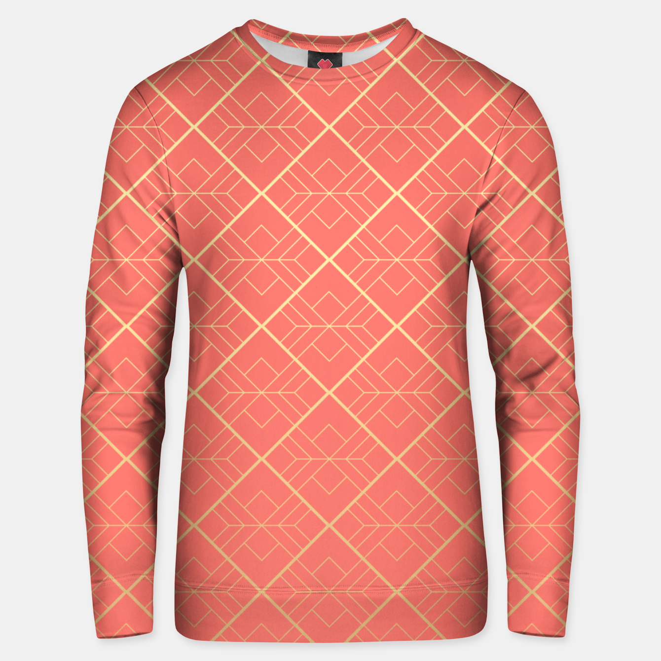 Image of LIVING CORAL AND GOLD Unisex sweater - Live Heroes