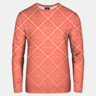 LIVING CORAL AND GOLD Unisex sweater thumbnail image