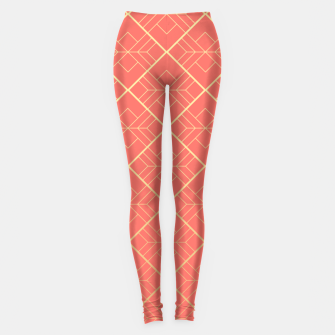 LIVING CORAL AND GOLD Leggings thumbnail image