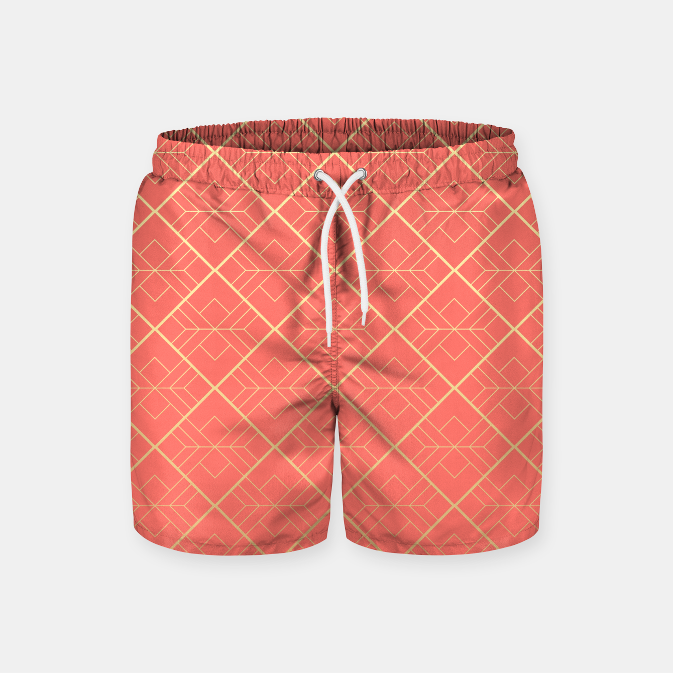 Image of LIVING CORAL AND GOLD Swim Shorts - Live Heroes