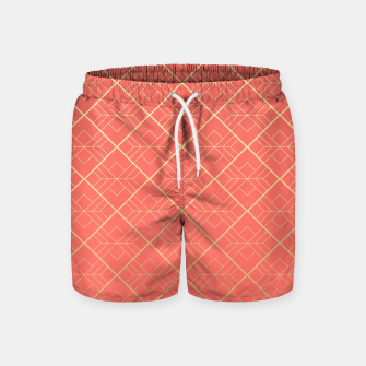 Thumbnail image of LIVING CORAL AND GOLD Swim Shorts, Live Heroes
