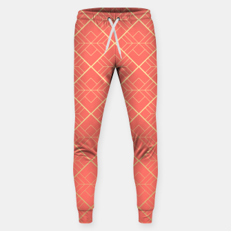 LIVING CORAL AND GOLD Sweatpants Bild der Miniatur