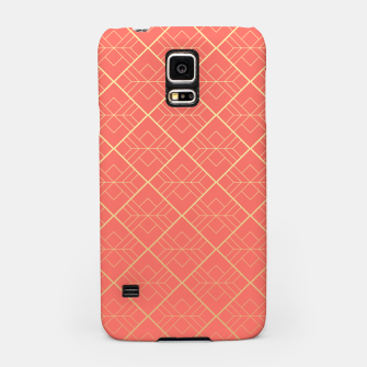 LIVING CORAL AND GOLD Samsung Case Bild der Miniatur