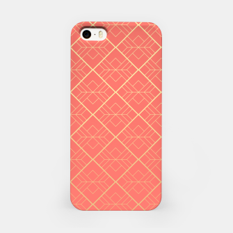 LIVING CORAL AND GOLD iPhone Case thumbnail image